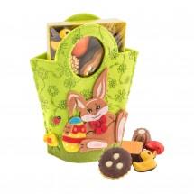 Geschenkartikel: Filztasche Hase, Ostergebäckmischung 200 g