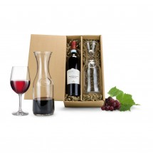 Geschenkset: Rotwein & Karaffe