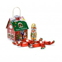 Geschenkartikel: Schokoladenhäuschen Merry Christmas