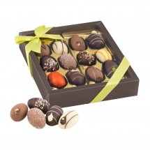 Geschenkartikel: Oster-Präsent Pralineneier - 12 Confiserie-Eier, 240 g