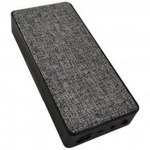 Powerbank 8.000 mAH mit Handyhalter und Lautsprecher - schwarz