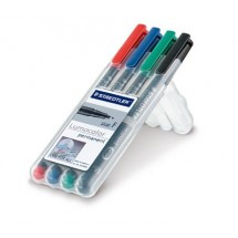 STAEDTLER Box mit 4 Lumocolor permanent F