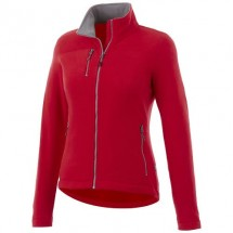 Pitch Damen Fleecejacke - rot
