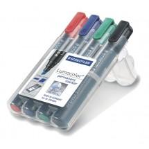 STAEDTLER Box mit 4 Lumocolor permanent marker