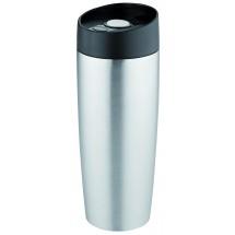 Metmaxx® Thermobecher CremaExtensaMetallica silber - silber / schwarz