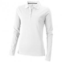Oakville Damen Langarm Poloshirt - weiss