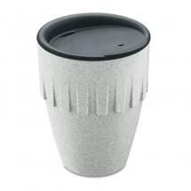Becher Cappuccino 300ml mit Deckel CONNECT - organic grey