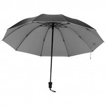 Regenschirm, innen Silber - schwarz