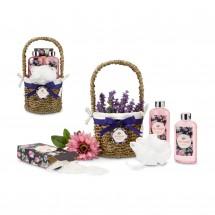 Wellness-Geschenkset: Lavendelkörbchen