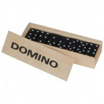 Domino Spiel aus Holz - beige