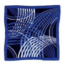 Tuch, Reine Seide Twill, bedruckt ca. 90x90 cm - blau