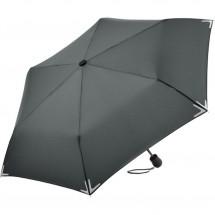 Mini-Taschenschirm Safebrella® LED-Lampe - grau