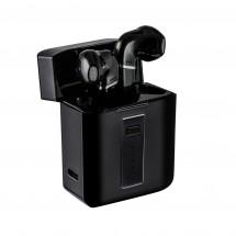 Wireless Kopfhörer mit Ladecase REEVES-TWS BLACK - schwarz