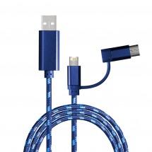 3-in-1 Ladekabel REEVES-ASSISI BLUE - blau