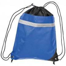 Non-Woven Gym-Bag mit reflektierendem Streifen - blau