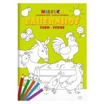 """Malbuch-Set DIN A4 """"Bauernhof"""""""