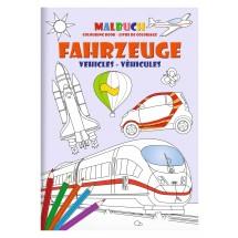 "Malbuch-Set DIN A5 ""Fahrzeuge"""