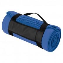 Fleecedecke mit Trageband - blau