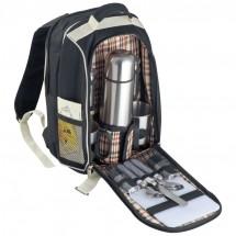 Picknickrucksack mit integrierter Kühltasche - schwarz