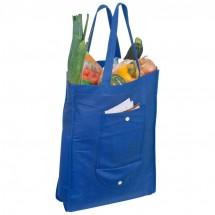Faltbare Non-Woven Einkaufstasche - blau