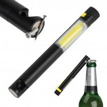 COB Taschenlampe mit Flaschenöffner - gelb