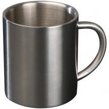 Tasse aus Metall - grau