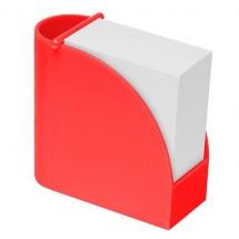 Designer-Zettelbox mit integriertem Köcher  - rot/rot