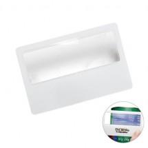 Lupe Kreditkartenformat - weiß