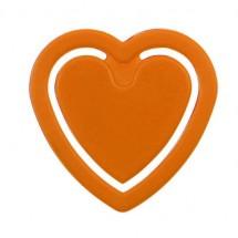 Zettelklammer Herzform - orange