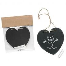Kreidetafel Herz - schwarz