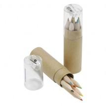 Buntstifte-/Spitzer-Set - beige/glasklar