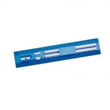 Lineal-Set, 5-teilig - blau