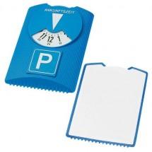 Designer Parkscheibe und Eiskratzer - blau/weiß