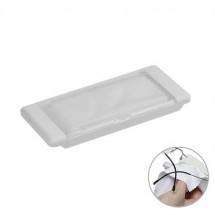 Mikrofasertuch - weiß/glasklar