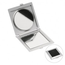 Taschenspiegel - silber/schwarz