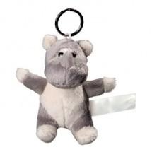 Plüsch Schlüsselanhänger Nashorn - grau