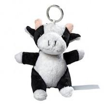 Plüsch Schlüsselanhänger Kuh - schwarz/weiß