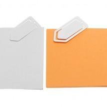 Zettelklammer, mini - weiß