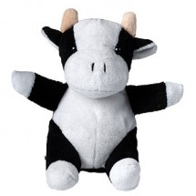 Plüsch Kuh Cordula - weiß/schwarz