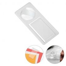 Lupe mit Zettelklammer - gefrostet glasklar