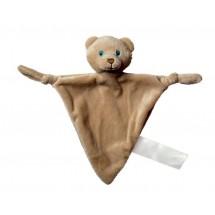 Schmusetuch Bär, dreieckig - hellbraun