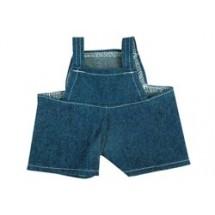 Jeans-Latzhose für Plüschtiere Gr. M - dunkelblau