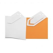 Zettelklammer, midi - weiß