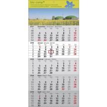 """1-Block-Wandkalender """"Standard 5""""-schwarz /880_ rot"""