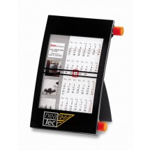 Kunststoff-Tischkalender mit individuellem Kalenderblatt-grau