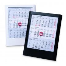 Kunststoff-Tischkalender Standard  6-sprachig-schwarz