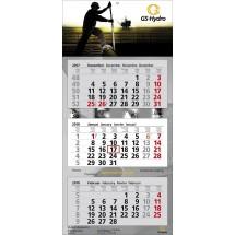 Wandkalender Premium 3-schwarz