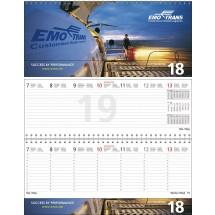 """Tischquerkalender """"Business-Exclusiv 2""""-schwarz /880_ rot"""