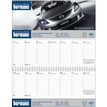 "Tischquerkalender ""Business-Standard""-schwarz /880_ rot"