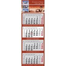 "Wandkalender ""Classic 4"", 7-sprachig-schwarz /880_ rot"